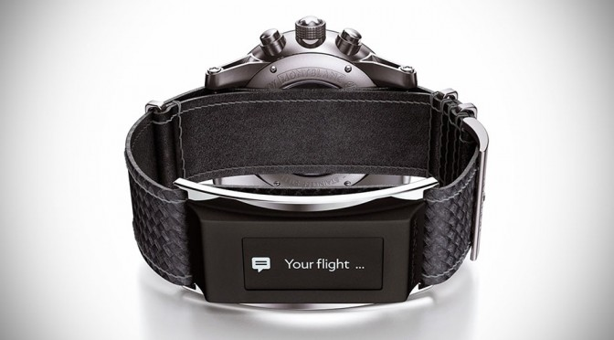 Montblanc's E-Strap Will Turn Your Montblanc Timepiece Into A Smartwatch, Well, Kind of.
