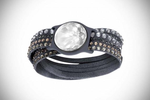 Swarovski Shine Collection - Slake Bracelet in Dark Grey