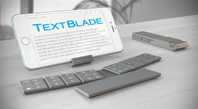 TextBlade Bluetooth Keyboard: Super Tiny But Comes With Full Size Keyboard Keys and Spacing