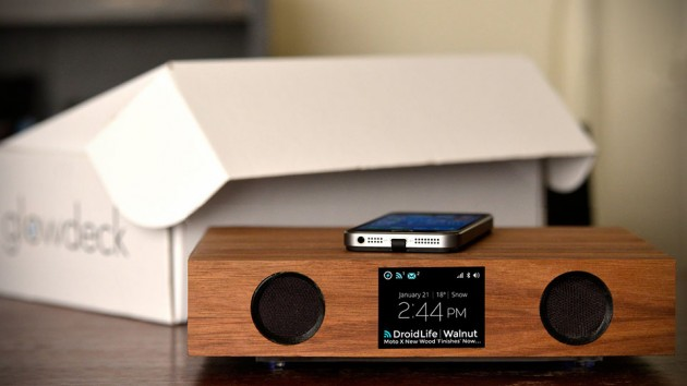 Glowdeck Wireless Charger and Bluetooth Speaker System