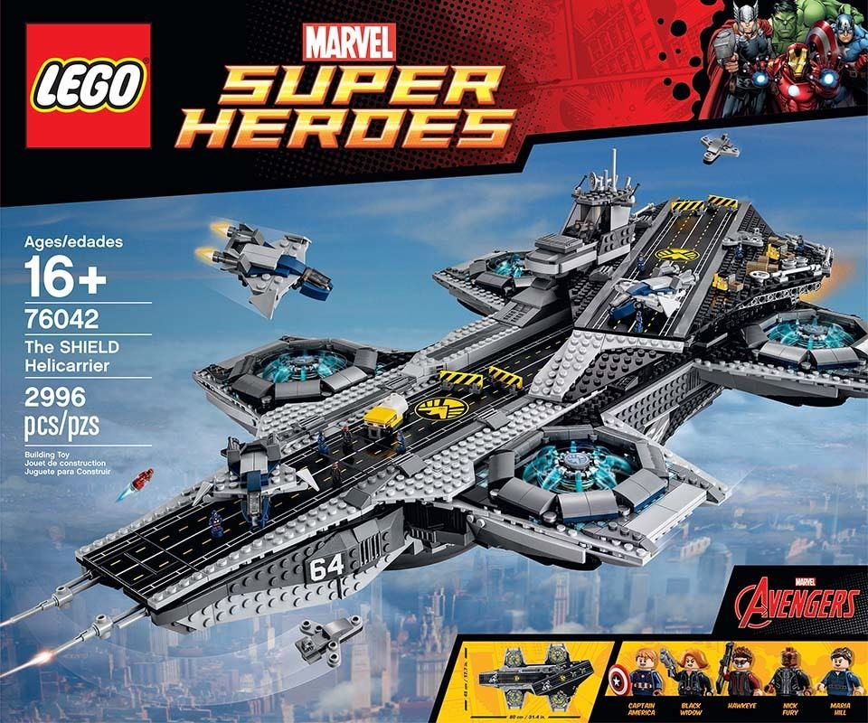 official lego marvel superheroes the shield helicarrier
