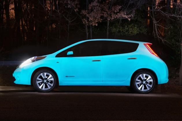 Nissan Glow-in-the-Dark Leaf Electric Car