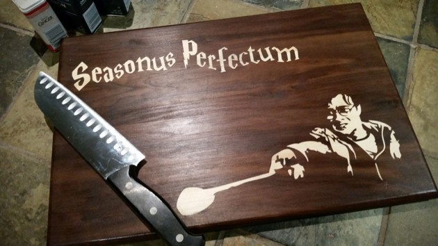 Custom Cutting Board by CuttingBoredom - Harry Potter