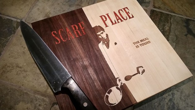 Custom Cutting Board by CuttingBoredom - Scarface