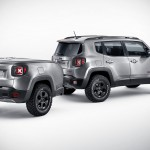Jeep Renegade Hard Steel Concept Has a Trailer that Pops Up to Reveal a Huge Touch Display