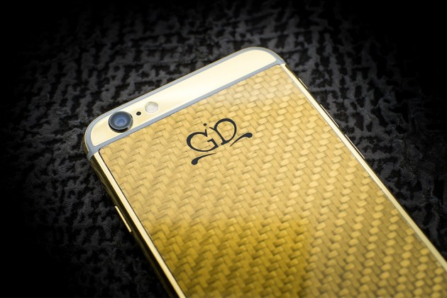 Luxury iPhone 6 by Golden Dreams - Carbon Fiber Edition Gold