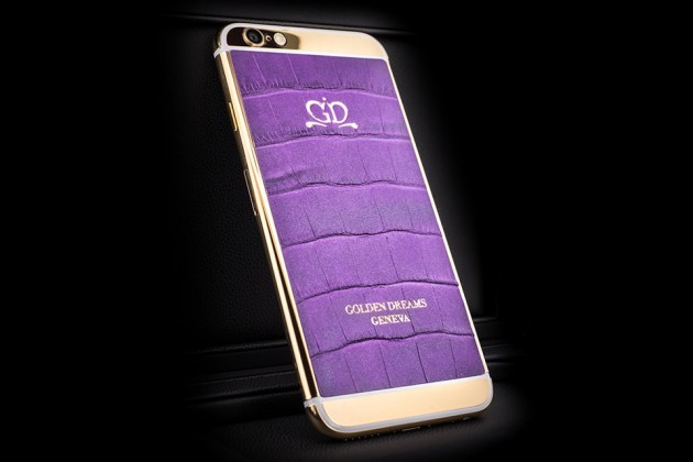 Luxury iPhone 6 by Golden Dreams - Desert Edition Purple Sparkling