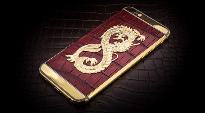 Luxury iPhone 6 by Golden Dreams - Dragon Edition Red Spiderman