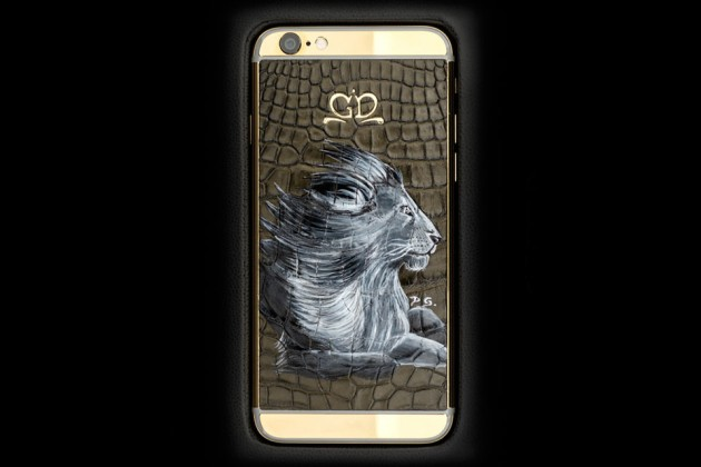Luxury iPhone 6 by Golden Dreams - Hand Painted Edition Lion