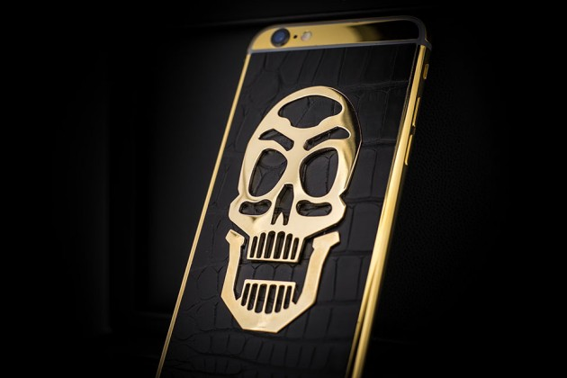 Luxury iPhone 6 by Golden Dreams - Skull Edition Black