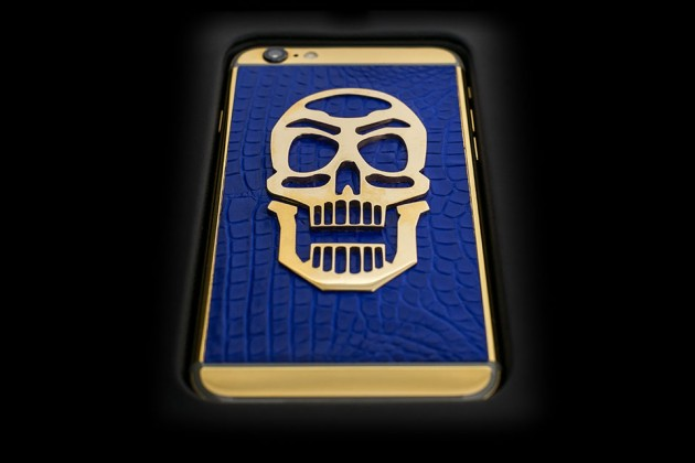 Luxury iPhone 6 by Golden Dreams - Skull Edition Blue
