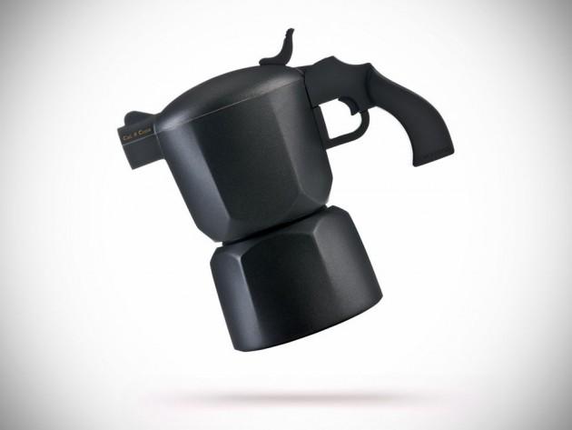 Noir Pistol-style Coffee Maker