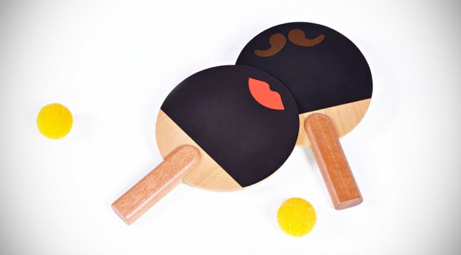 These Cute Moustache and Lips Ping Pong Paddles Comes with Silence and Uncrushable Balls