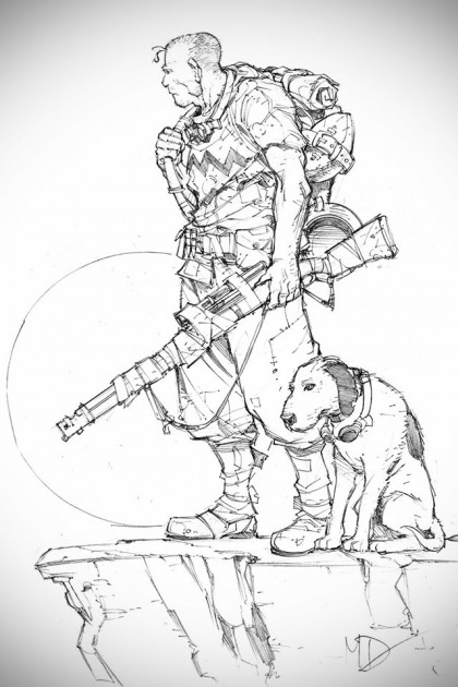 Post-apocalyptic Take on Snoopy and Charlie Brown by Max Dunbar