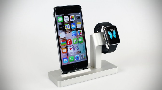 Premium One All-in-One Dock for Apple Watch and iPhone by Enblue