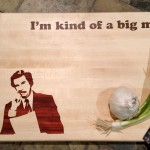 Custom Ron Burgundy Cutting Board Labeled with Food Pun Makes Cooking a Less Boring Affair