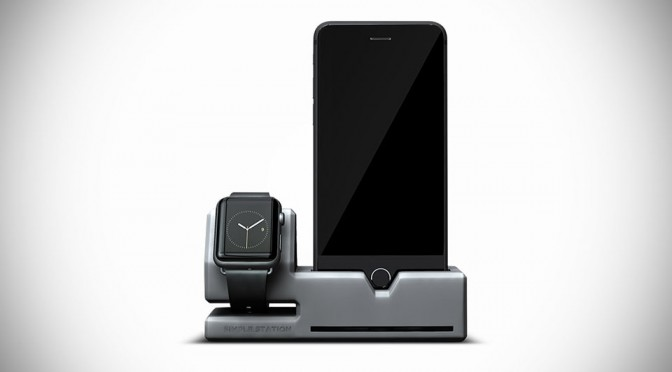 Simple Station Apple Watch and iPhone Dock by Designed by Many