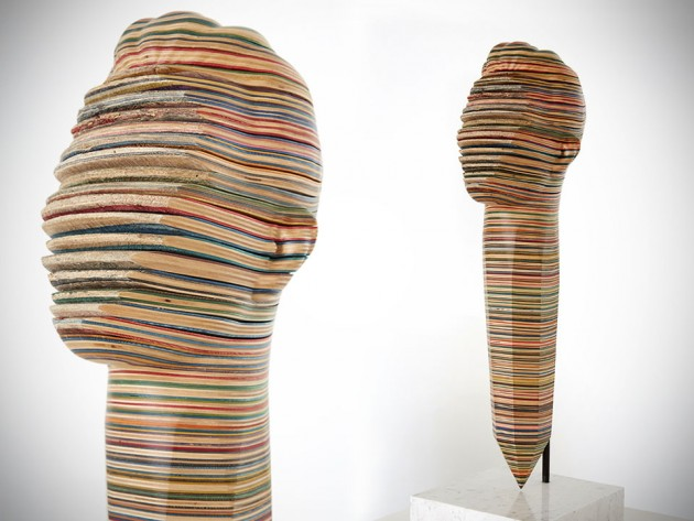 Skateboard-based Sculptures by Haroshi