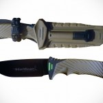 Surviv-All Survival Knife Lets You Cut Cords Without Unsheathing and it Can Start Fire Too