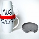 Mug Stacker Stacks Up Your Mugs Neatly, Eliminates Mug Clutter