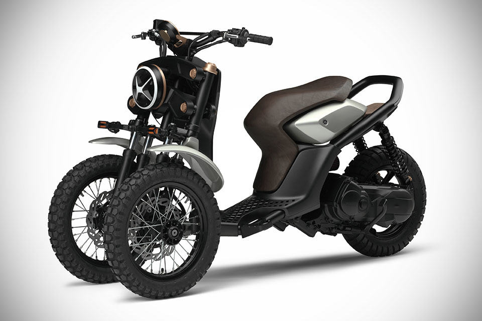 Yamaha 03gen Concept 3 Wheeled Scooter Never Looked This Good Shouts