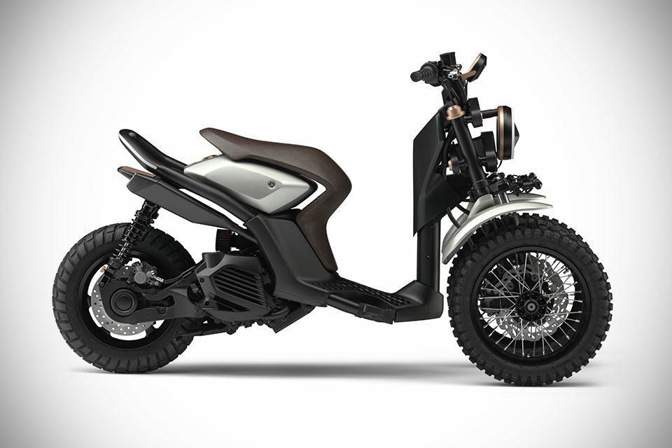 yamaha 03gen concept 3 wheeled scooter never looked this. Black Bedroom Furniture Sets. Home Design Ideas