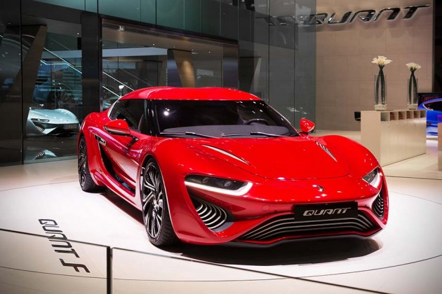 nanoFlowcell AG Quant F Electric Car at Geneva Motor Show 2015