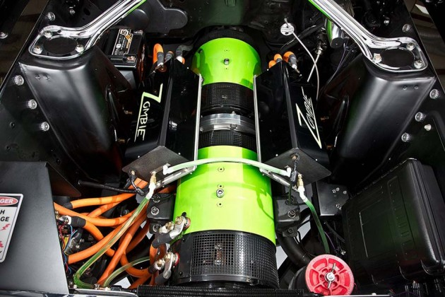 """'68 Mustang """"Zombie 222"""" Electric Car by Bloodshed Motors"""