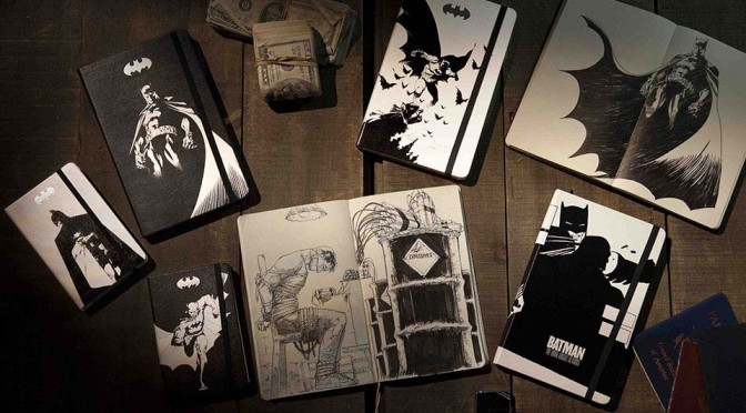 Batman Arrives on the Cover of Moleskine Notebook, But He Won't Stick Around for Long