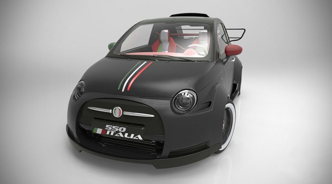 Lazzarini Design Wants to Stuff a Ferrari V8 Engine into a Fiat 500
