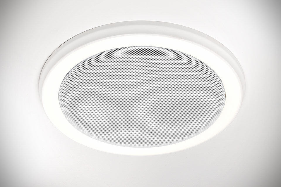 homewerks' new bath fan is also a bluetooth speakers and led light