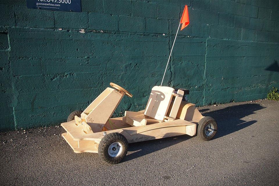 ... Build A Homemade Wooden Go Kart. on homemade wooden go kart plans gas