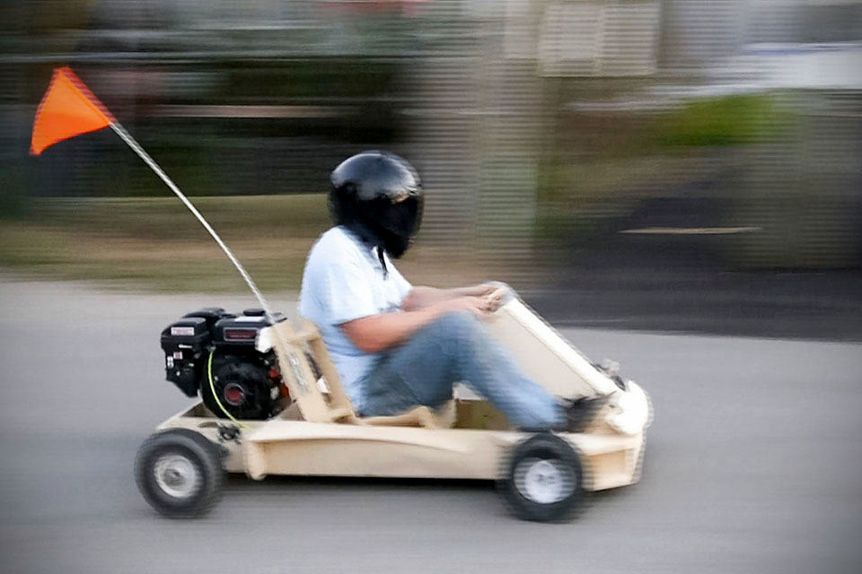 Flatpack Wooden Go Kart Assembles In A Day Reaches Up To 25 Mph Mikeshouts