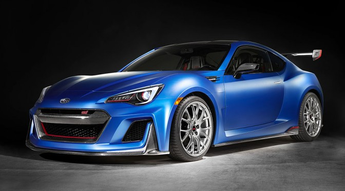 "Subaru Unveils ""STI Performance Concept"", a STI Souped Up BRZ Coupe, at New York Auto Show"