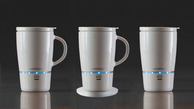 Wireless Heated Mug with NanoHeat Technology