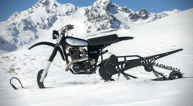 Northern Lights Optic's Promotional Snow Bike is a Classic Yamaha HL500 Slapped with Modern Ski Kit