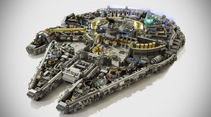 Custom Minifig-scale LEGO Millennium Falcon by Titans Creations