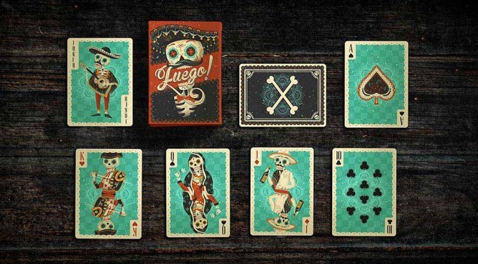 Fuego! Playing Cards Features Day of the Dead-inspired Illustrations