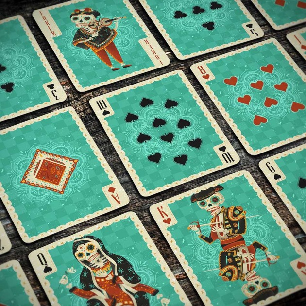 Fuego! Day of the Dead-inspired Playing Cards