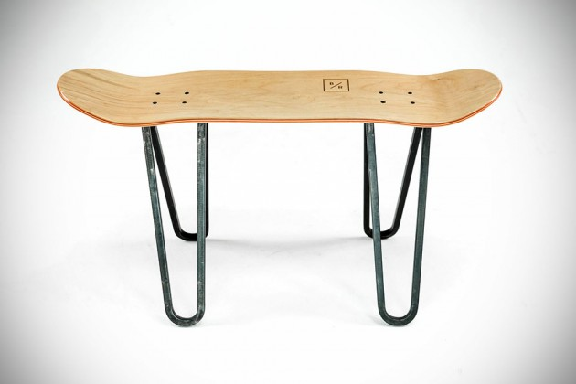 Handmade Skateboard Furniture by Baked / Roast