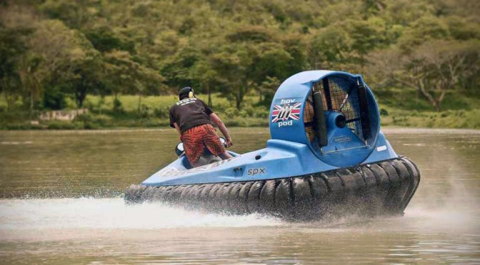 Hov Pod's Newest Hovercraft is the First of its Kind That's Made from Carbon Fiber, Kevlar and HDPE