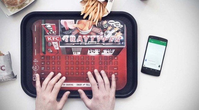 KFC Tray Typer Bluetooth Keyboard