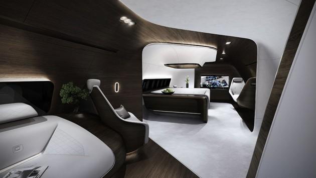 Lufthansa Technik VIP Aircraft Cabin by Mercedes-Benz Style
