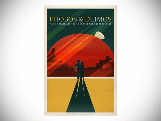 Retro Mars Tourism Posters by SpaceX