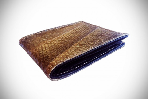 Salmon Leather Wallets by Tidal Vision