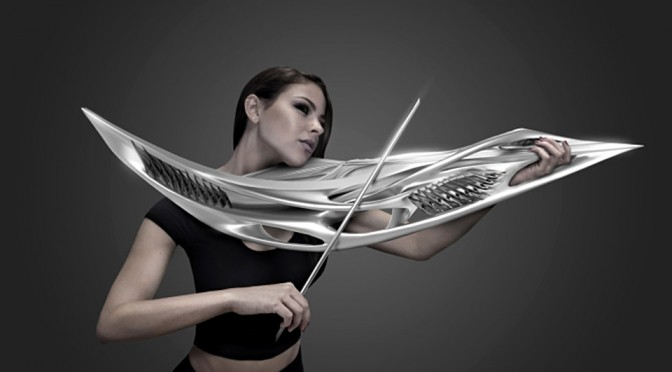 3D-Printed 2-String Piezoelectric Violin by MONAD Studio