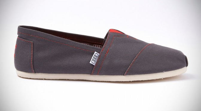 Audi and TOMS Team Up to Release Exclusive Shoe for Audi Buyers