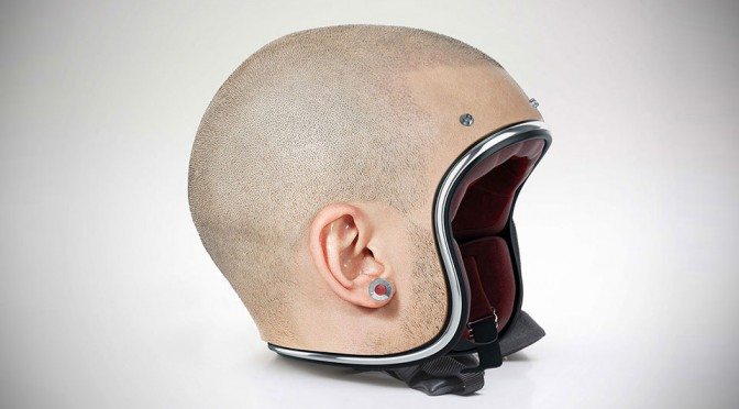 Custom-made Human Head Helmets by Jyo John Mulloor