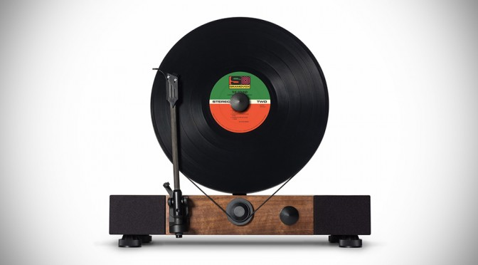 Floating Record Player Breaks Tradition, Plays Your Vinyl Vertically