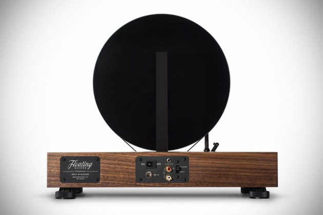 Floating Record Vertical Turntable by Gramovox